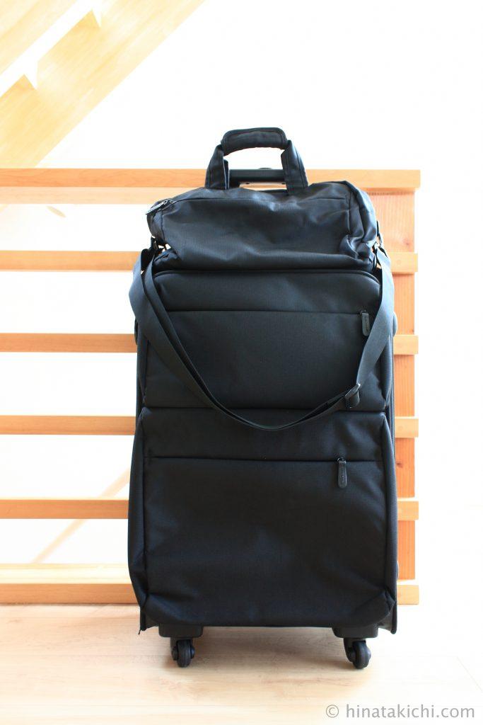 無印のソフトキャリーバッグとボストンバッグ