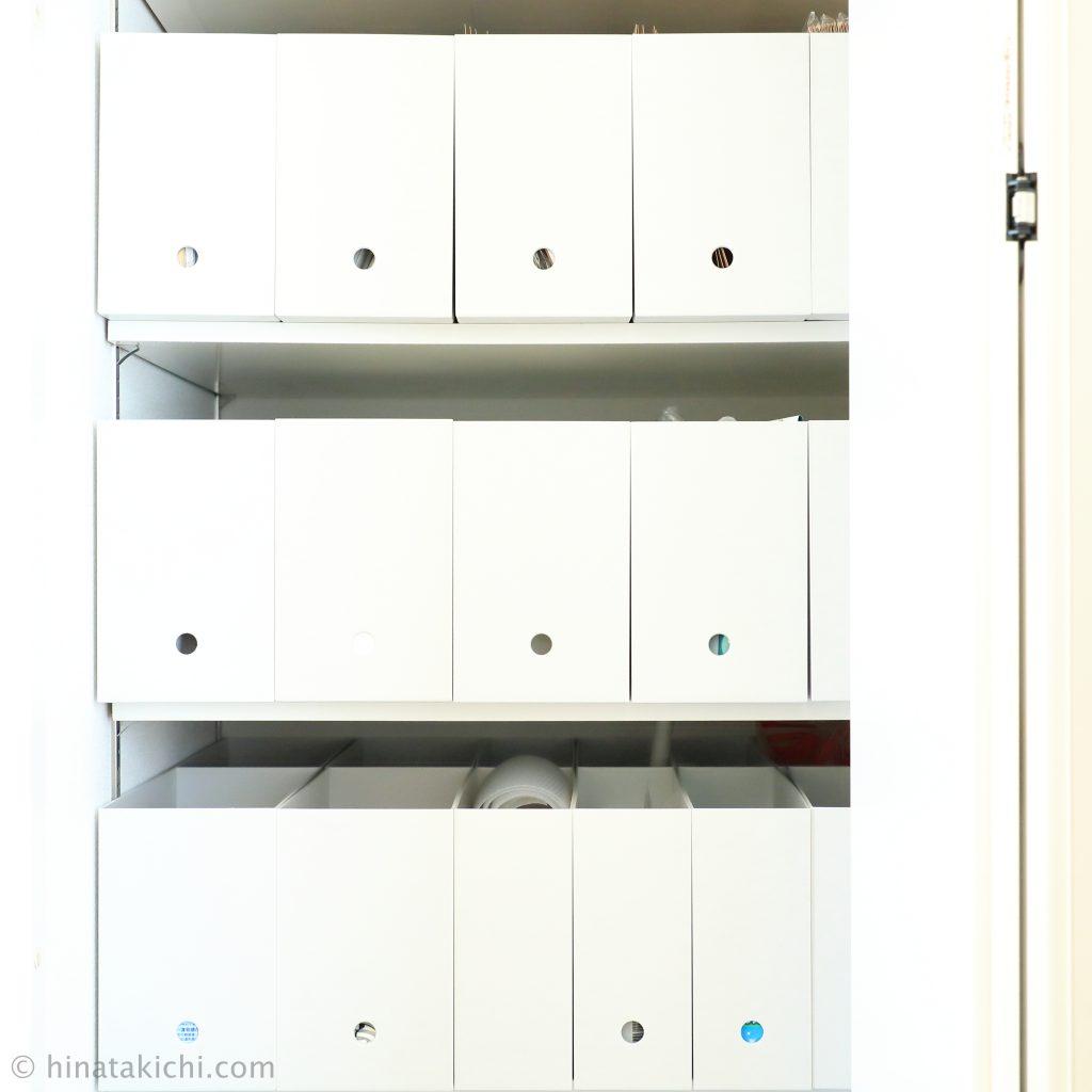 棚板と無印ファイルボックスを追加