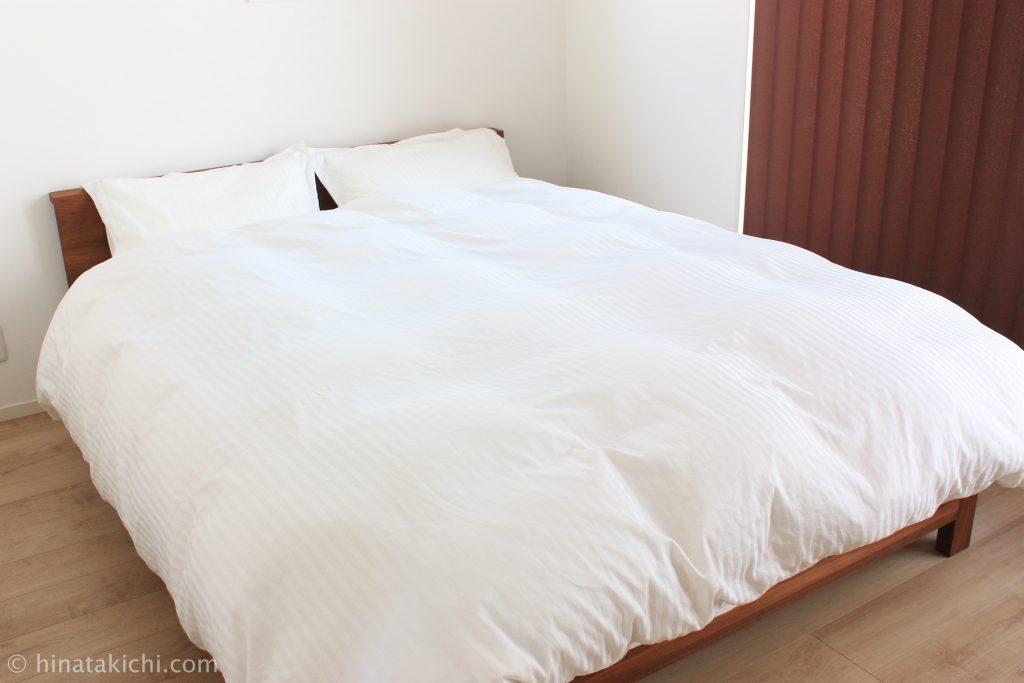 無印のインド綿高密度サテン織ホテル仕様の寝具カバー