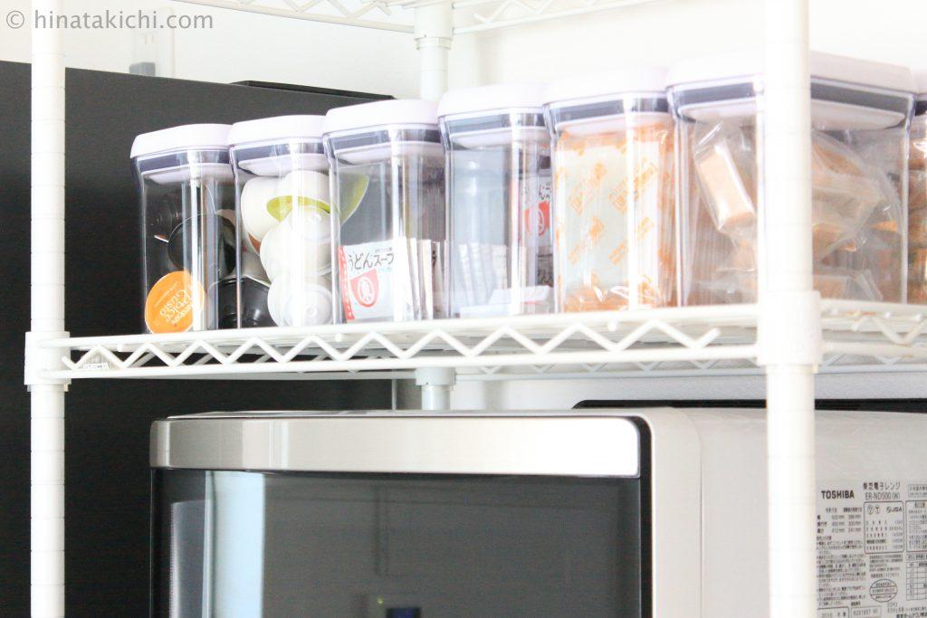 OXOポップコンテナでキッチンの食材整理