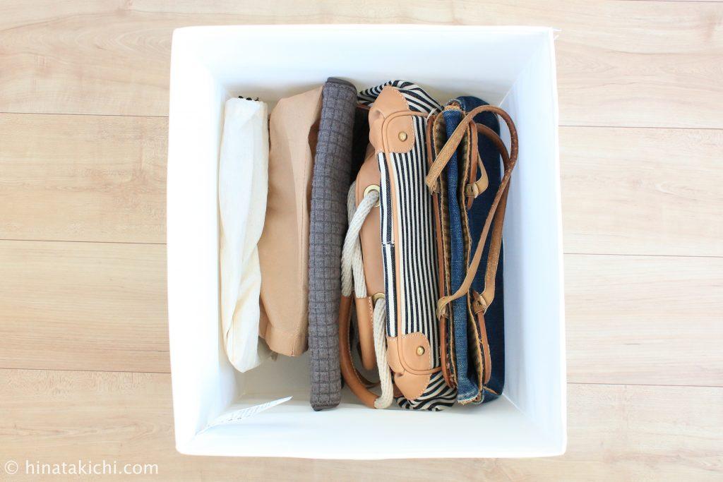 小さめのバッグをIKEAのSKUBBに収納