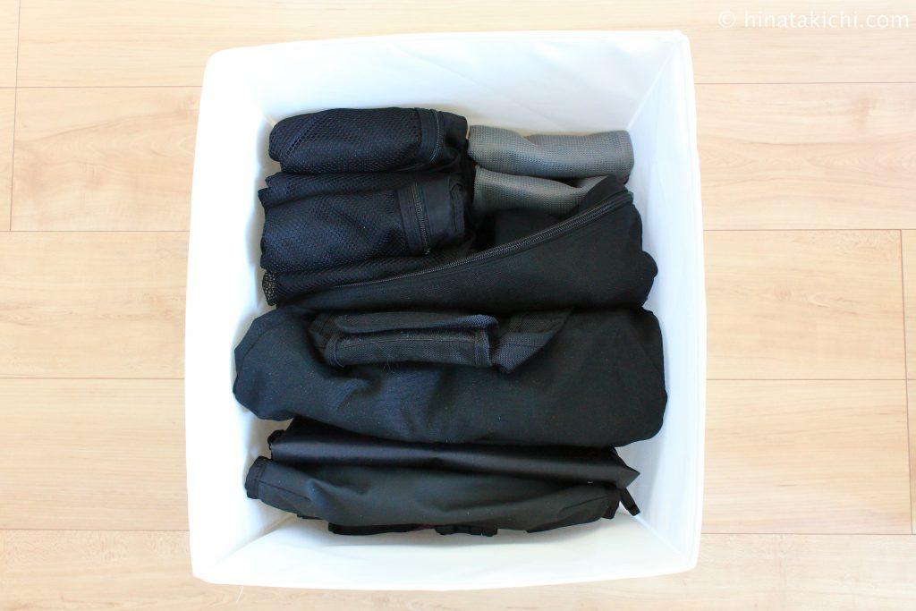 旅行用のバッグをIKEAのSKUBBに収納