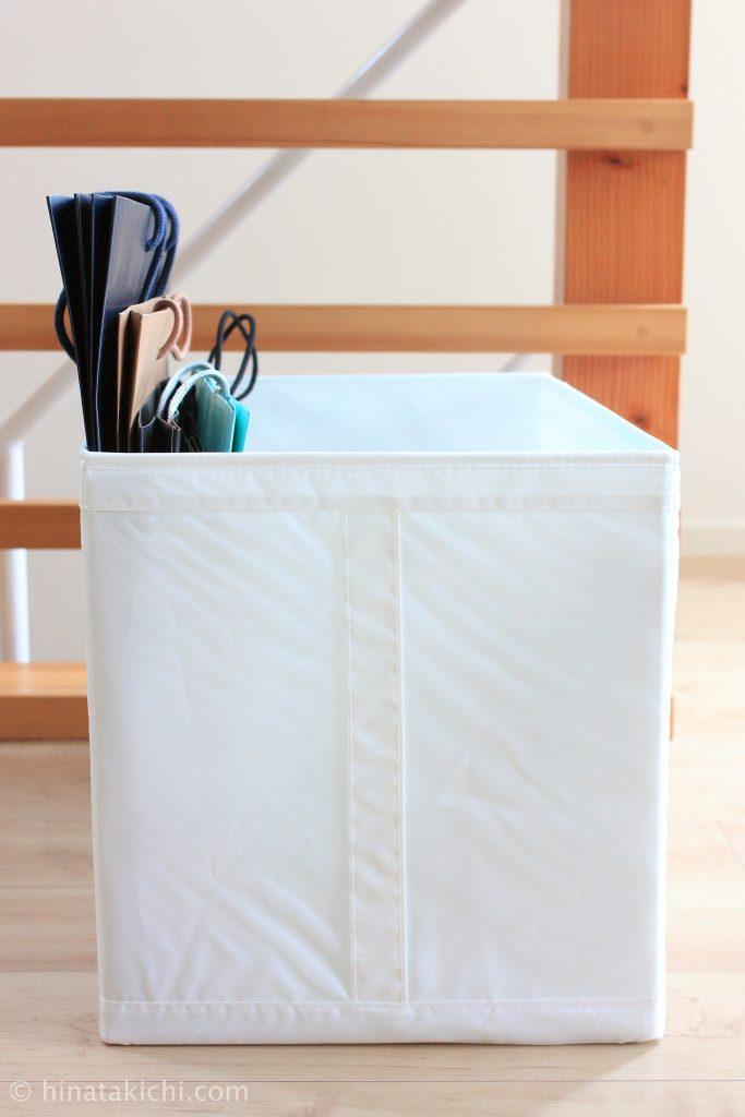 IKEAのSKUBBで紙袋保管